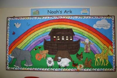 Noahs Ark wall display in Creche Room