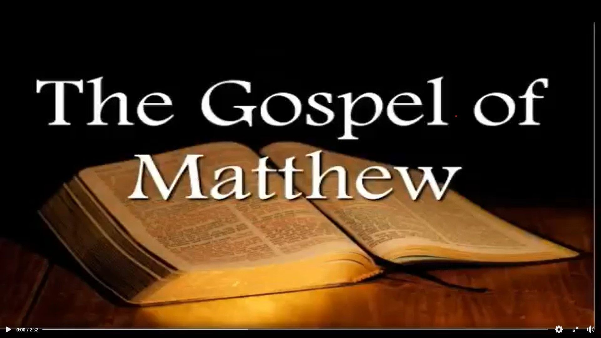 The Gospel of Matthew, daily readings Nov. 2020