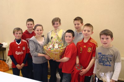 Prize winner at one stand at the Cake Sale and Coffee Morning, Fahan Presbyterian Church.