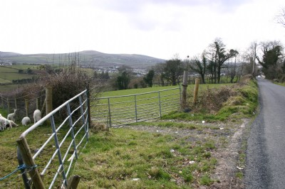 Burnfoot village, Donegal from the former home of Mae Brown, nee McClay