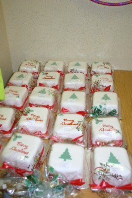 A few of the Christmas cakes made by Margaret Ferg