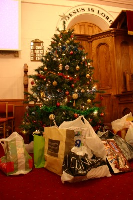 Fahan Presbyterian Church Carol Service Christmas tree
