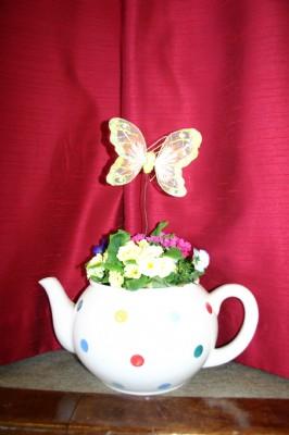 Lovely flower arrangement at Easter Coffee Morning