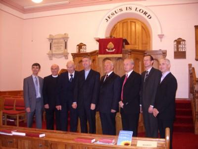 Some of leadership team plus visitors