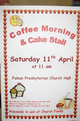 Poster for a Coffee Morning and Cake Sale