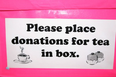 No charge but rather a donation at easter Coffee M