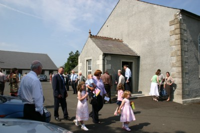 Outside Church after Service on Childrens Day