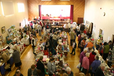 Craft Fayre visitors enjoying the wide selection