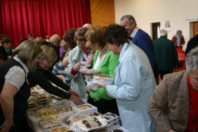 Great competrition to buy the best cakes at the Easter Cake and Craft Sale