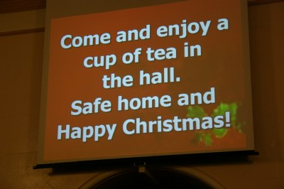 Carol Service, come for tea, fahan Presbyterian Church