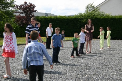 Playing outside at Childrens Day, Fahan.