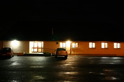 Church Hall in the dark