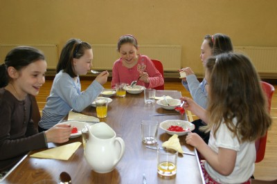 Bread  Cheese Lunch after Service of Communion