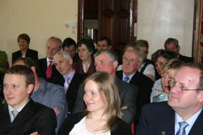 Members listening intently to Patrick Lynch & the Soup & Cheese Lunch