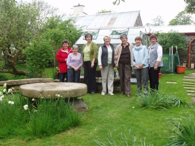 PW Fahan, visit to lovely garden of Rois Hamilton, Burnfoot