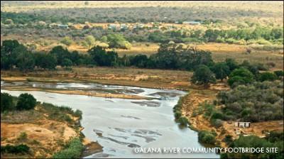 Galan bridge site across crocodile area