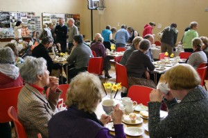Tea and tray bakes at the Easter Coffee Morning