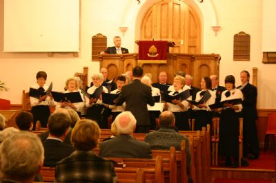 Donegal Presbyterian Choir on a lovely evening at Fahan Presbyterian Church