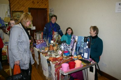 Charity stand with Tear Craft, Fair Trade hand made products.