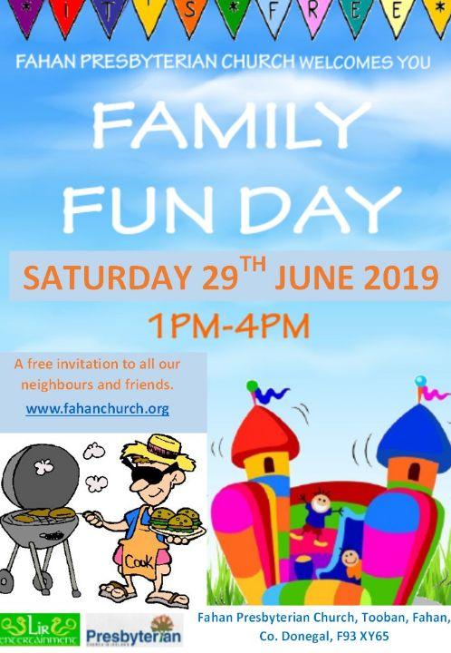 Family Fun Day 29th June 2019