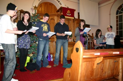 Drama by Youth Fellowship at Fahan Presbyterian Carol Service