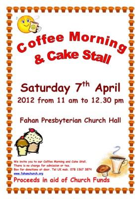 Coffee Morning  cake Sale 07-04-12