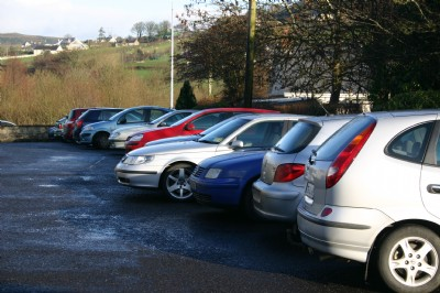 Full car park is a sign of a popular Craft fayre