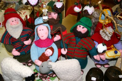 Nativity Scene knitted by a Church member