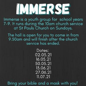 Immerse Timetable