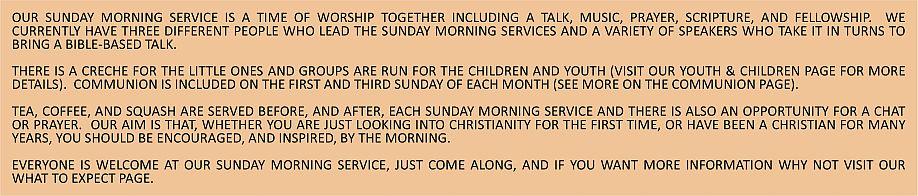 Sunday Morning Service Text