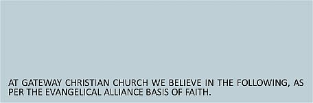 Our Beliefs Header