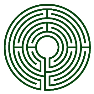 Diagram of a seven-circuit Chartres labyrinth