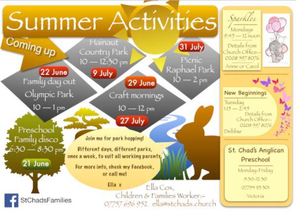 Summer Activities Poster 2019