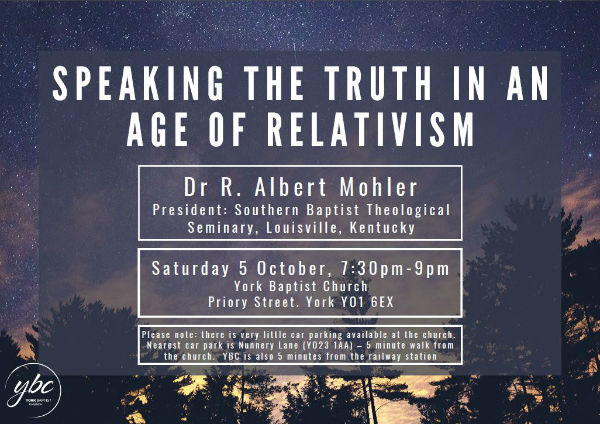 Albert Mohler Sat 5 Oct 2019 7.30pm