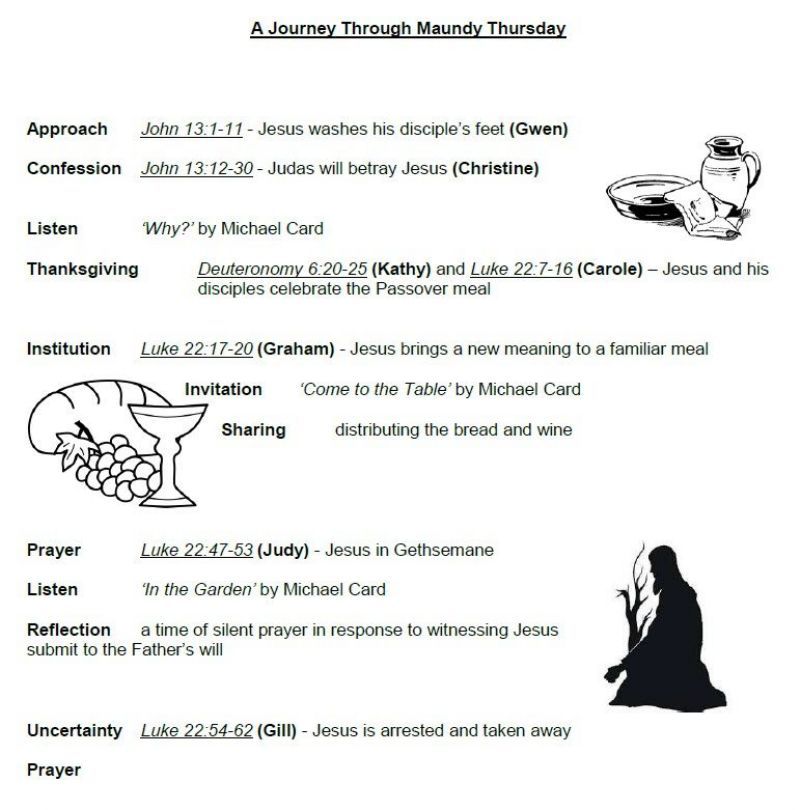 Maundy Thursday Order of Service