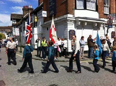 St Georges Day parade Horsham