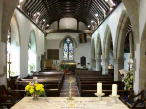 The nave from behind the altar - 2008.  How the vicar sees it - without the congregation!