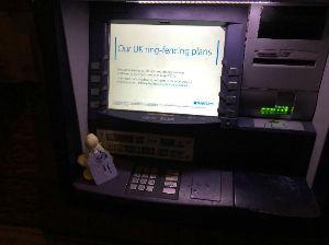 Angel on cash machine