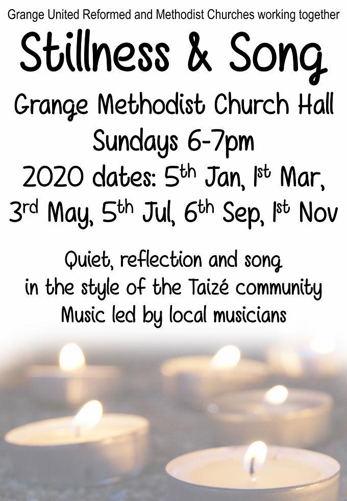 Grange Taize service dates 2020