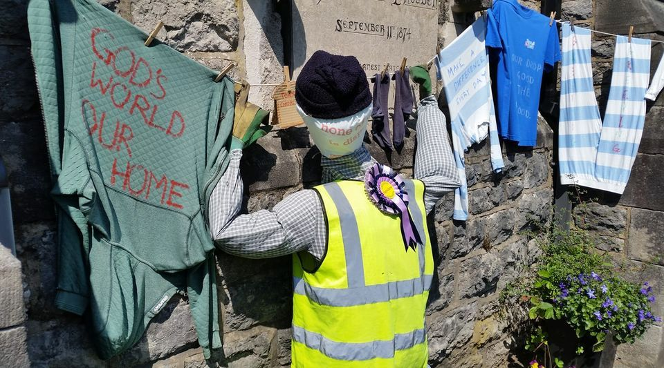 Toast Church winning scarecrow in PEAT competition