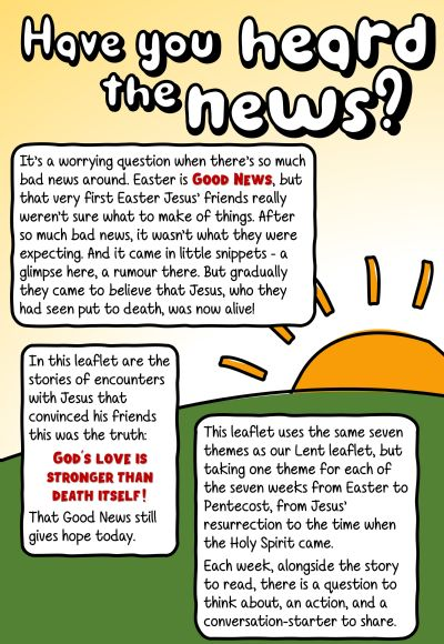 Front page of Easter to Pentecost leaflet
