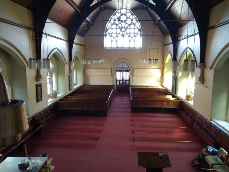 Grange church with some pews removed