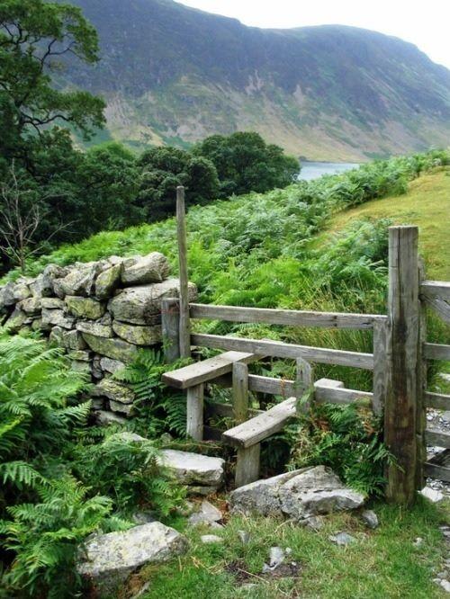 Stile on a Lake District footpath