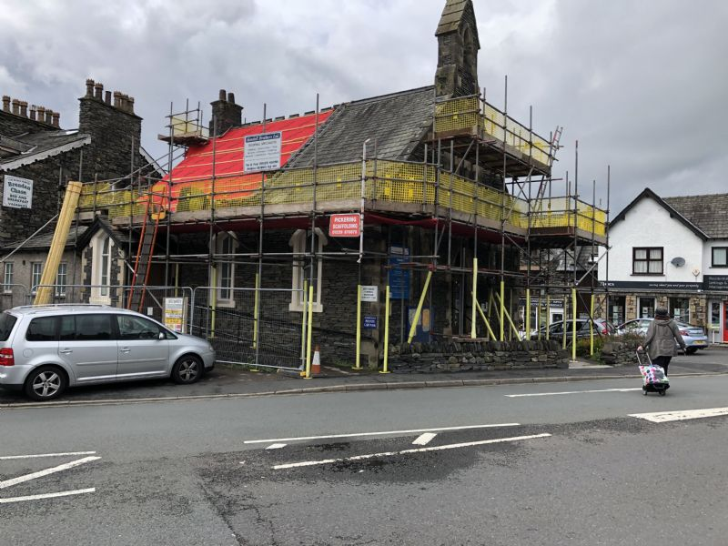 Windermere chapel slate removal 2