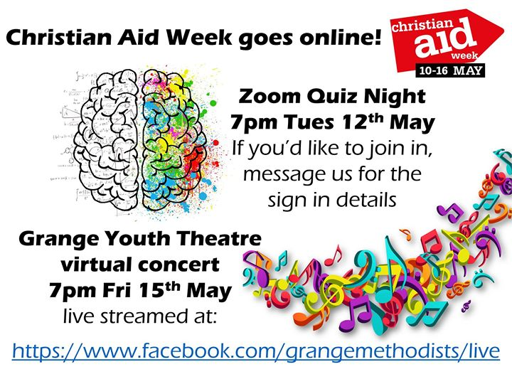 Grange Christian Aid quiz poster