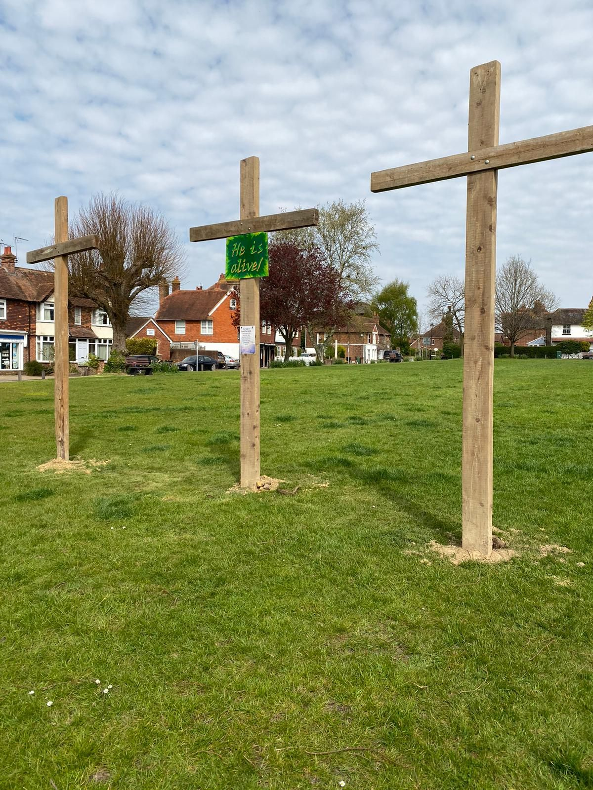 Crosses on Green