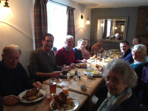 Lunch at the Queens Head, Foulsham