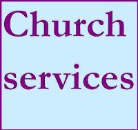 Church services button