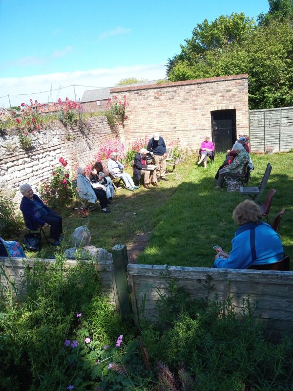 One of the weekly garden parties at the vicarage