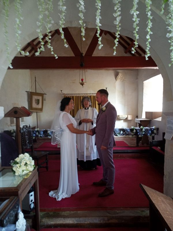Sophie and Alan Maud, who were married in St Leonard's in July